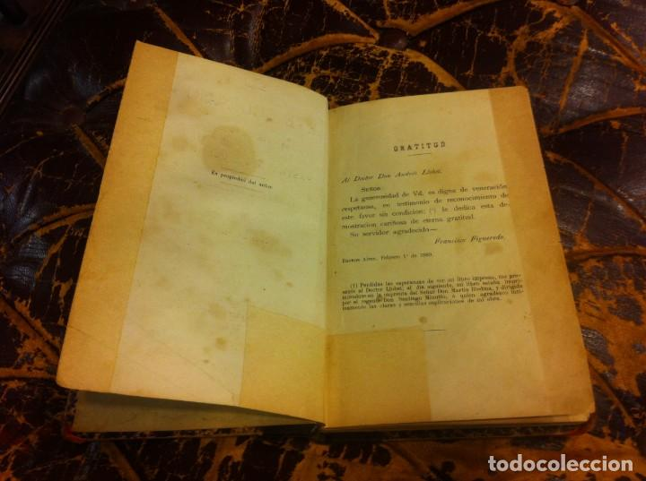 Libros antiguos: FRANCISCO FIGUEREDO. EL ARTE CULINARIO. ESCUELA DE COCINA Y PASTELERÍA MODERNA. 1889. BUENOS AIRES. - Foto 3 - 288075893