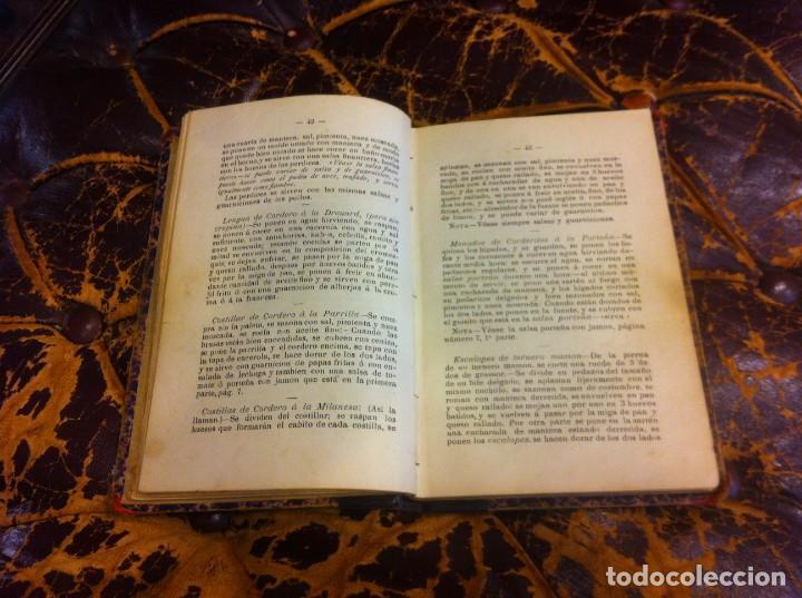 Libros antiguos: FRANCISCO FIGUEREDO. EL ARTE CULINARIO. ESCUELA DE COCINA Y PASTELERÍA MODERNA. 1889. BUENOS AIRES. - Foto 7 - 288075893