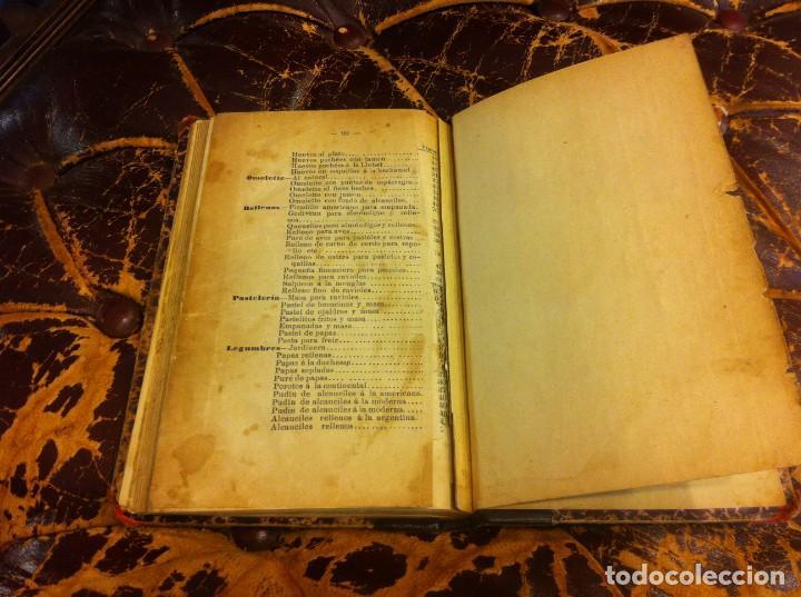 Libros antiguos: FRANCISCO FIGUEREDO. EL ARTE CULINARIO. ESCUELA DE COCINA Y PASTELERÍA MODERNA. 1889. BUENOS AIRES. - Foto 18 - 288075893