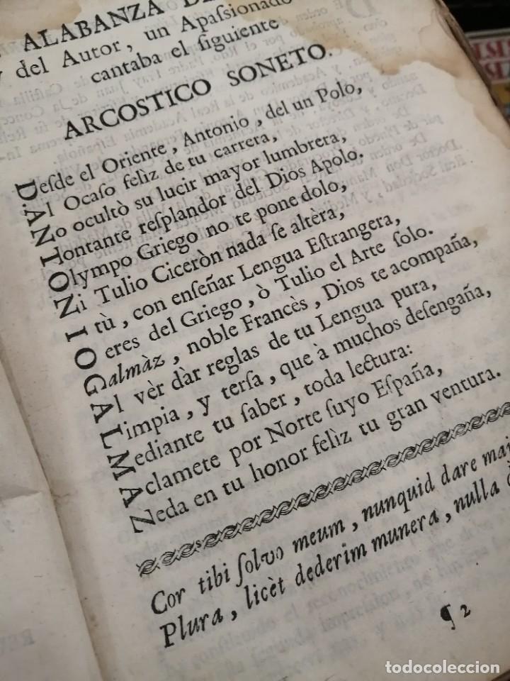 Libros antiguos: llave nueva y universal para aprender con brevedad y perfeccion la lengua francesa 1753 - Foto 4 - 288141798