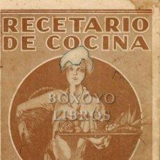 Libros antiguos: RECETARIO DE COCINA. ACEITE LA GIRALDA. Lote 288172648