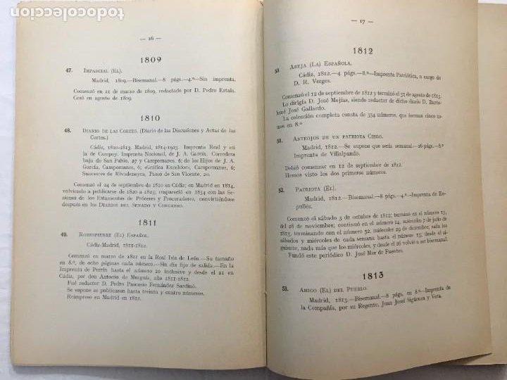 Libros antiguos: Memoria y Catálogo de las Publicaciones Periódicas Madrileñas Hemeroteca Municipal. 1928. - Foto 4 - 288390708