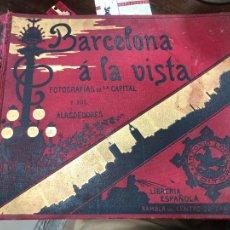 Libros antiguos: LIBRO DE FOTOGRAFÍAS - BARCELONA A LA VISTA - LIBRERÍA ESPAÑOLA - RAMBLA DEL CENTRO, 20 - 98 PÁGINAS. Lote 288513683