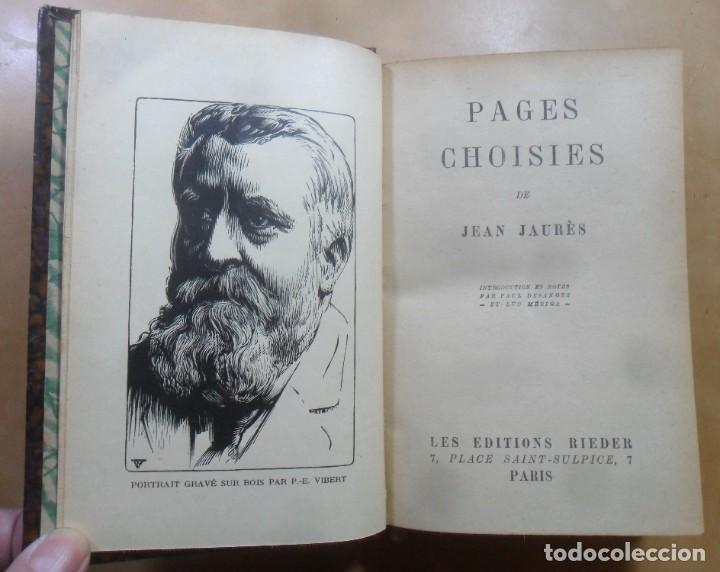 Libros antiguos: PAGES CHOISIES - JEAN JAURES - ED. RIEDER - 1928 * EN FRANCES - Foto 4 - 288539618