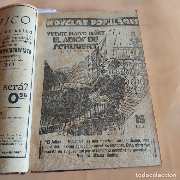 Libros antiguos: NOVELAS POPULARES. 12 NOVELAS ENCUADERNADAS. AÑO I. 1929. Nº 1 HASTA Nº 12. VER FOTOS. LEER. - Foto 4 - 288569448