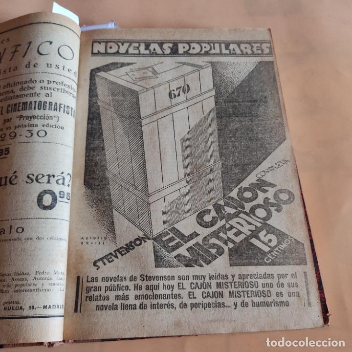 Libros antiguos: NOVELAS POPULARES. 12 NOVELAS ENCUADERNADAS. AÑO I. 1929. Nº 1 HASTA Nº 12. VER FOTOS. LEER. - Foto 5 - 288569448