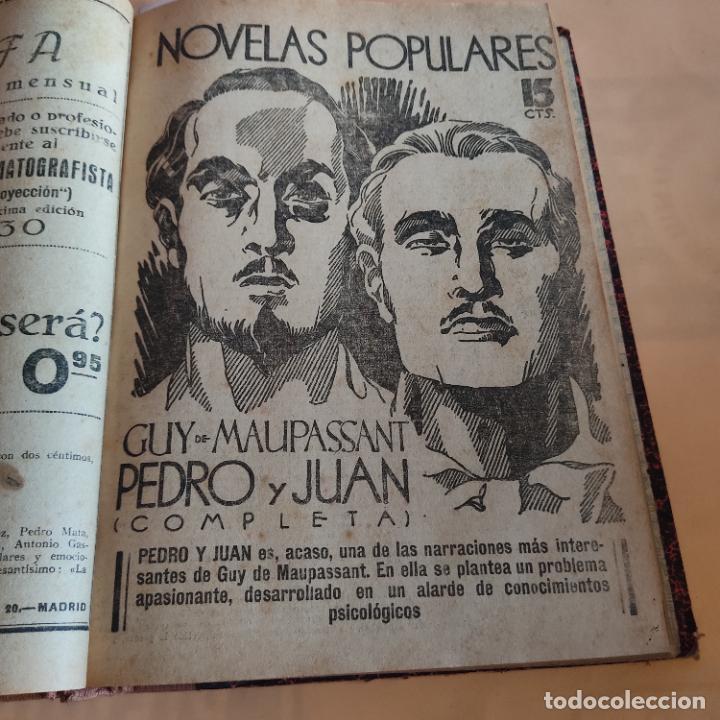 Libros antiguos: NOVELAS POPULARES. 12 NOVELAS ENCUADERNADAS. AÑO I. 1929. Nº 1 HASTA Nº 12. VER FOTOS. LEER. - Foto 6 - 288569448