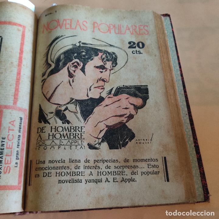 Libros antiguos: NOVELAS POPULARES. 12 NOVELAS ENCUADERNADAS. AÑO I. 1929. Nº 1 HASTA Nº 12. VER FOTOS. LEER. - Foto 9 - 288569448