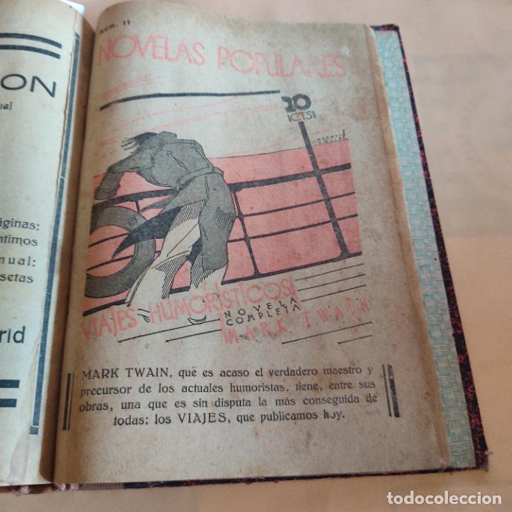 Libros antiguos: NOVELAS POPULARES. 12 NOVELAS ENCUADERNADAS. AÑO I. 1929. Nº 1 HASTA Nº 12. VER FOTOS. LEER. - Foto 13 - 288569448