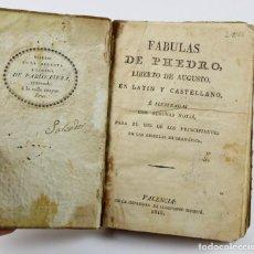 Libros antiguos: FABULAS DE PHEDRO LIBERTO DE AUGUSTO, VALENCIA 1818. 10,5X15CM.. Lote 288580318