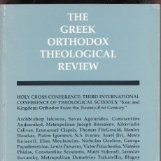 Libros antiguos: THE GREEK ORTHODOX THEOLOGICAL REVIEW.AÑO 1993 ED BOARD395 PGAS LE4268. Lote 288605468