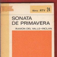 Libros antiguos: SONATA DE PRIMAVERA,RAMON DEL VALLE-INCLAN 139PAG,AÑO1969 LE4279. Lote 288624308