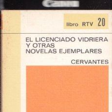 Libros antiguos: EL LICENCIADO VIDRIERA Y OTRAS NOVELAS EJEMPLARES CERVANTES AÑO 1969 ED SALVAT 190 PGAS LE4280. Lote 288624673