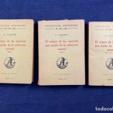 Libri antichi: EL ORIGEN DE LAS ESPECIES POR MEDIO DE LA SELECCIÓN NATURAL. Lote 288635338