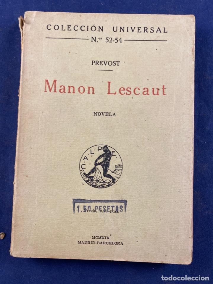 MANON LESCAUT (Libros antiguos (hasta 1936), raros y curiosos - Literatura - Narrativa - Otros)