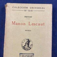 Libros antiguos: MANON LESCAUT. Lote 288637808