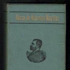 Libros antiguos: OLIVEIRA MARTINS, J.P: TABOAS DE CHRONOLOGIA E GEOGRAPHIA HISTORICA. Lote 288639318