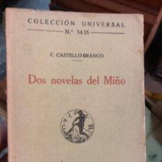Libros antiguos: DOS NOVELAS DEL MIÑO. Lote 288643158