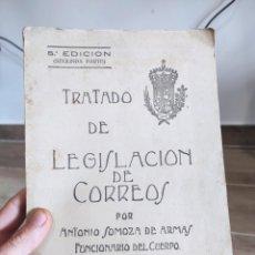 Libros antiguos: TRATADO DE LEGISLACIÓN DE CORREOS SERVICIO INTERIOR E INTERNACIONAL. ANTONIO SOMOZA DE ARMAS. 1925. Lote 288909988