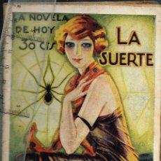 "Libros antiguos: 1927 LA NOVELA DE HOY Nº287 ""LA SUERTE"" EDUARDO ZAMACOIS - ILUSTRADOR VÁZQUEZ CALLEJA. Lote 289360433"