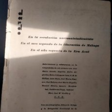 Libros antiguos: REVISTA DARDO IMPENTA DARDO ALAMEDA 37 MALAGA 1936. Lote 289580593