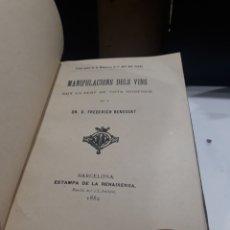 Libros antiguos: ENOLOGIA-MANIPULACIO DELS VINS-ART DEL PAGES. Lote 289604523