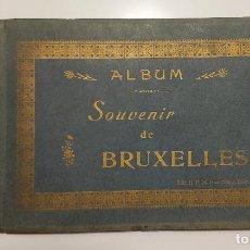Libros antiguos: ALBUM SOUVENIR DE BRUXELLES. 1910 APROX. 24 FOTOGRAFÍAS ANTIGUAS EXPLICADAS EN FRANCÉS Y ALEMÁN.RARO. Lote 289609853
