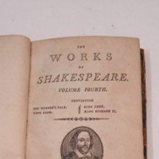 Libros antiguos: THE WORKS OF SHAKESPEARE VOLUME FOURTH - BERWICK JHON TAYLOR 1800 - VER TODAS LAS FOTOS. Lote 289629038