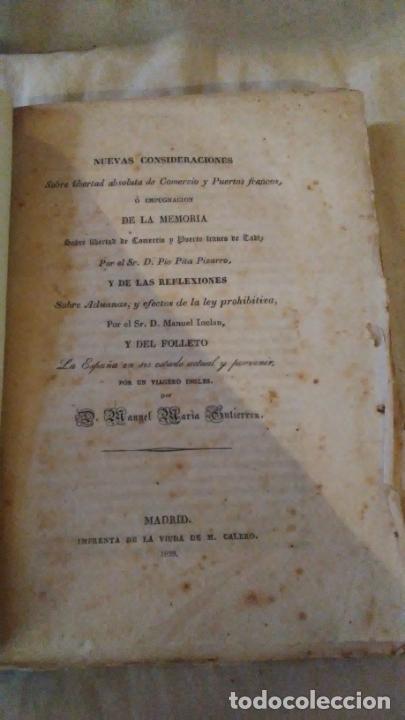 Libros antiguos: CONSIDERACIONES SOBRE LIBERTAD ABSOLUTA DE COMERCIO - AÑO 1839 - .PIO PITA PIZARRO. - Foto 2 - 289883248