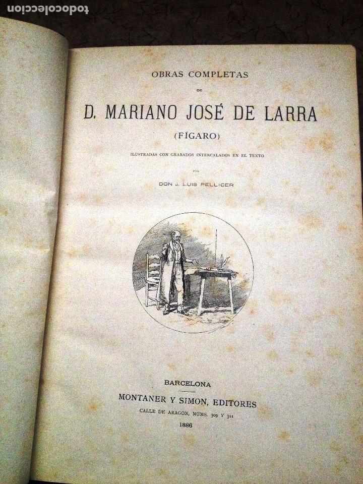 OBRAS COMPLETAS DE D. MARIANO JOSE DE LARRA- 1886 (Libros antiguos (hasta 1936), raros y curiosos - Literatura - Narrativa - Otros)
