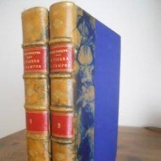Libros antiguos: RICARDO MACÍAS PICAVEA: LA TIERRA DE CAMPOS. 1897 1898. DOS PARTES PRIMERA EDICIÓN VALLADOLID. Lote 290307718