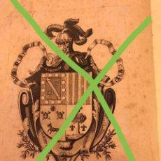 Libros antiguos: REAL PROVISIÓN DE INFANZONIA A FAVOR DE ANTONIO ESTEBAN MIGUEL DEL CACHO DE ZARAGOZA EN 1796. Lote 292029673