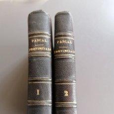 Libros antiguos: AÑO 1823 LETTRES PROVINCIALES, BLAISE PASCAL, 2 TOMOS. Lote 293359613