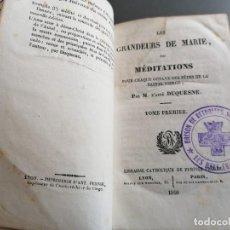 Libros antiguos: AÑO 1840, GRANDEURS DE MARIE, DUQUESNE, 2 TOMOS. Lote 293365468