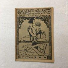Libros antiguos: A. ROLDÁN. LA TRAGEDIA CONYUGAL DE UN HIDALGO. EL CUENTO GALANTE. AÑO I. 1 DE AGOSTO DE 1913. Nº17.. Lote 293802808