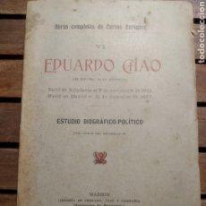 Libros antiguos: EDUARDO CHAO MANUEL CURROS ENRIQUEZ. OBRAS COMPLETAS. TOMO VI.1914. Lote 293981298