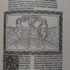Libros antiguos: FASCIMIL. DE LAS CLARAS,EXCELENTES Y FAMOSAS DAMAS. GIOVANNI BOCCACCIO. BIBLIOTECA NACIONAL. Lote 293990528