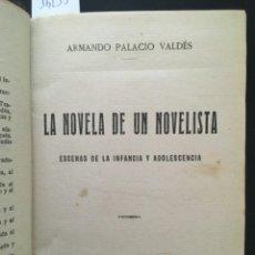 Libros antiguos: LA NOVELA DE UN NOVELISTA, ARMANDO PALACIO VALDES, 1922. Lote 293994253