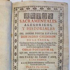 Libros antiguos: AVTOS SACRAMÉNTALES ALEGÓRICOS, Y HISTORÍALES DEL INSIGNE POETA ESPAÑOL DON PEDRO CALDERON DE LA BAR. Lote 293998253