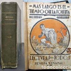 Libros antiguos: LECTURAS PARA TODOS - SUPLEMENTO DE LA REVISTA SEMANAL JEROMIN AÑO 1932 30 NOVELAS EN UN TOMO. Lote 294953488