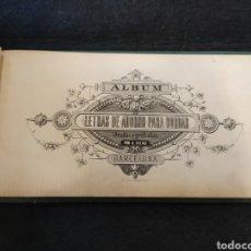 Libros antiguos: ANTIGUO ALBUM LETRAS PARA BORDAR. IDEADAS Y GRABADAS POR J.VILAS. Lote 295508053