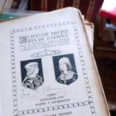 Libros antiguos: CURSO DE HISTORIA DE ESPAÑA - DR. RAFAEL BALLESTER. OBRA ILUSTRADA CON MAPAS Y GRABADOS. Lote 295568343