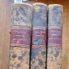Libros antiguos: TRATADO GENERAL DE MECANICA-3 TOMOS I Y II DE TEXTO Y 1 DE ATLAS-REULEAUX-F. NACENTE-1886-87. Lote 295644598