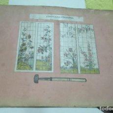 Libros antiguos: + CATALOGO DE VIDRIERAS PINTADAS 14 PAGINAS 39 X 28 CM. Lote 296749448