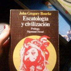 Libros: ESCATOLOGÍA Y CIVILIZACIÓN, JOHN GREGORY BOURKE, PUNTO OMEGA GUADARRAMA.. Lote 120933023