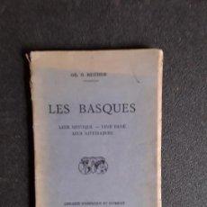 Libros: REICHER. LES BASQUES. SU PASADO, SU MÍSTICA, SU LITERATURA. BUEN ENSAYO.. Lote 144315514
