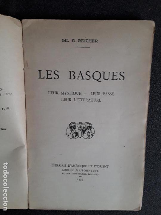 Libros: Reicher. Les Basques. Su pasado, su mística, su literatura. Buen ensayo. - Foto 4 - 144315514