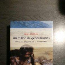 Libros: UN MILLON DE GENERACIONES. Lote 150405562