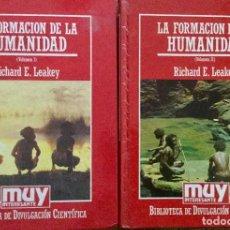 Libros: LA FORMACIÓN DE LA HUMANIDAD, DE R.E. LEAKEY, 2 TOMOS. Lote 151485678