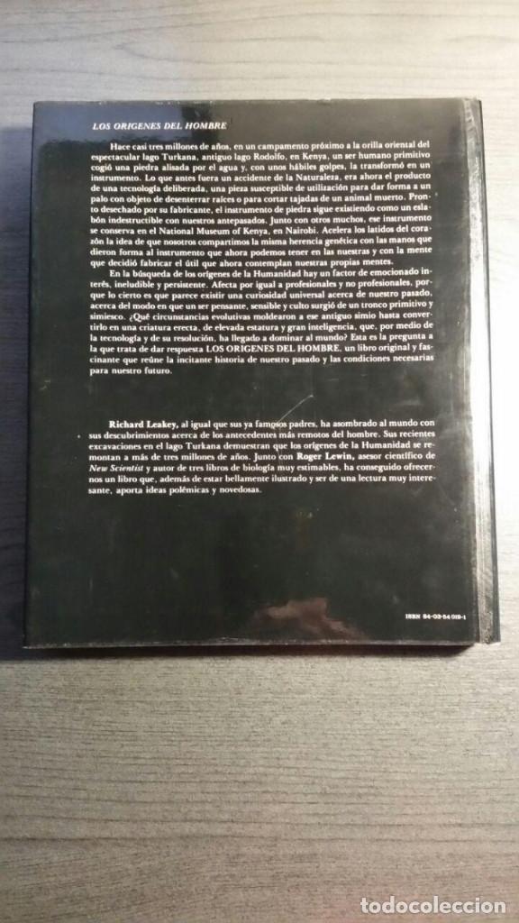Libros: LOS ORÍGENES DEL HOMBRE - RICHARD E. LEAKEY / ROGER LEWIN - Foto 2 - 151873102